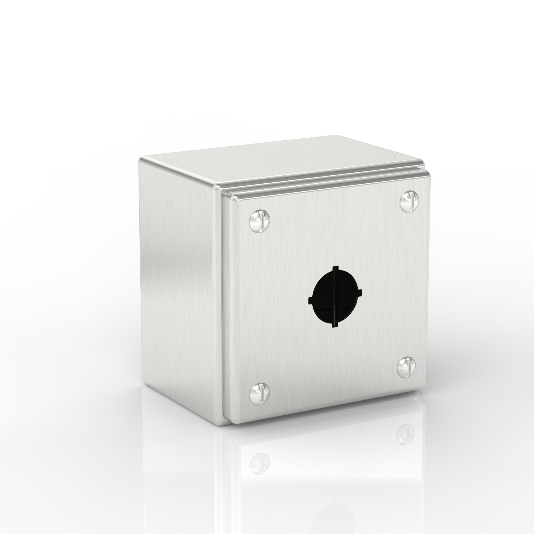 SL-XPB1-S316-22.5 | Slimline Push-Button Enclosure with Removable Stand-Off Mounting Pillars