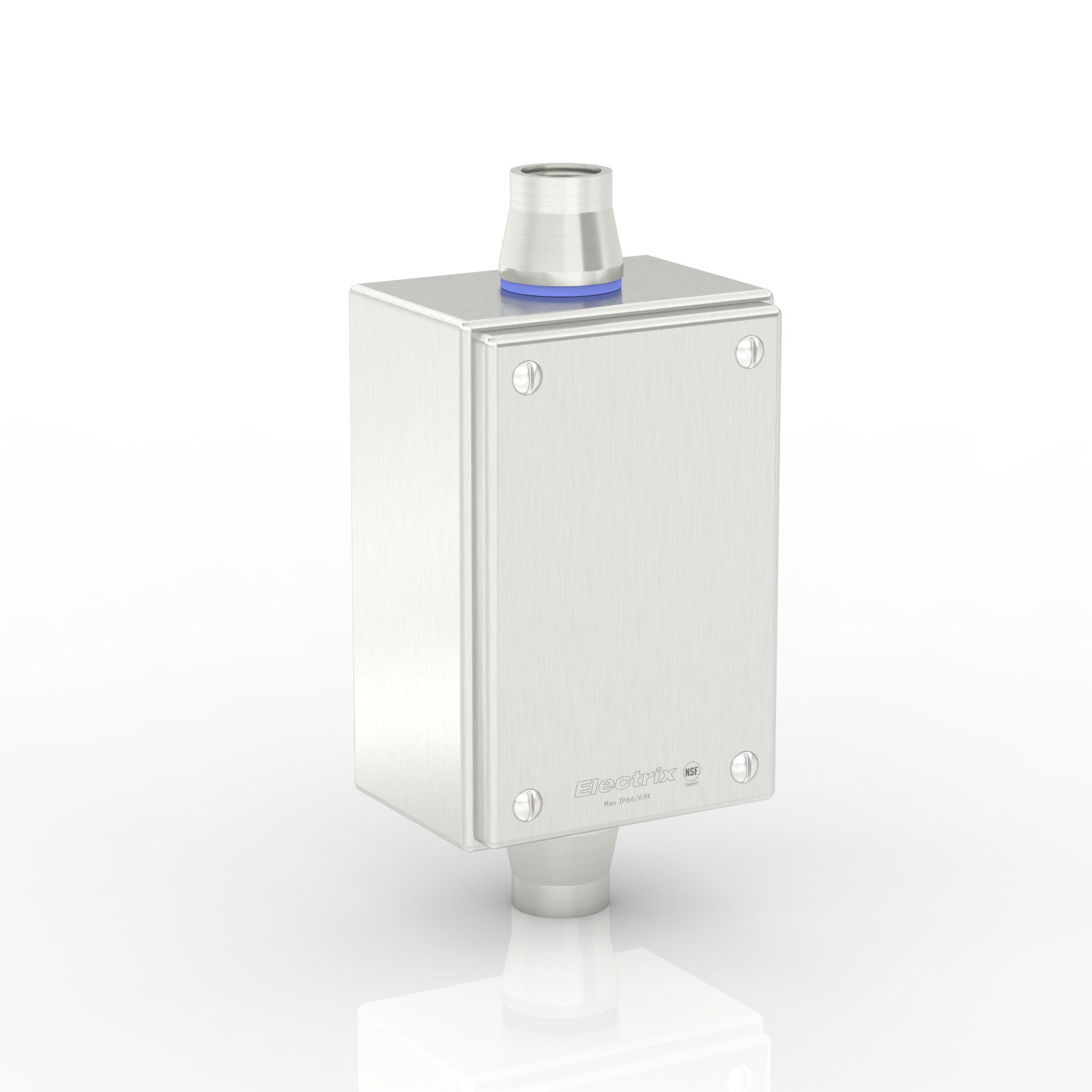 "SL-XTCE-R-C3/4-S316 | WASHDOWNPRO IP69K / Type 4X Slimline Terminal Box (C - Through) with 2 x 3/4"" Ø Holes and Removable Stand-Off Mounting Pillars"