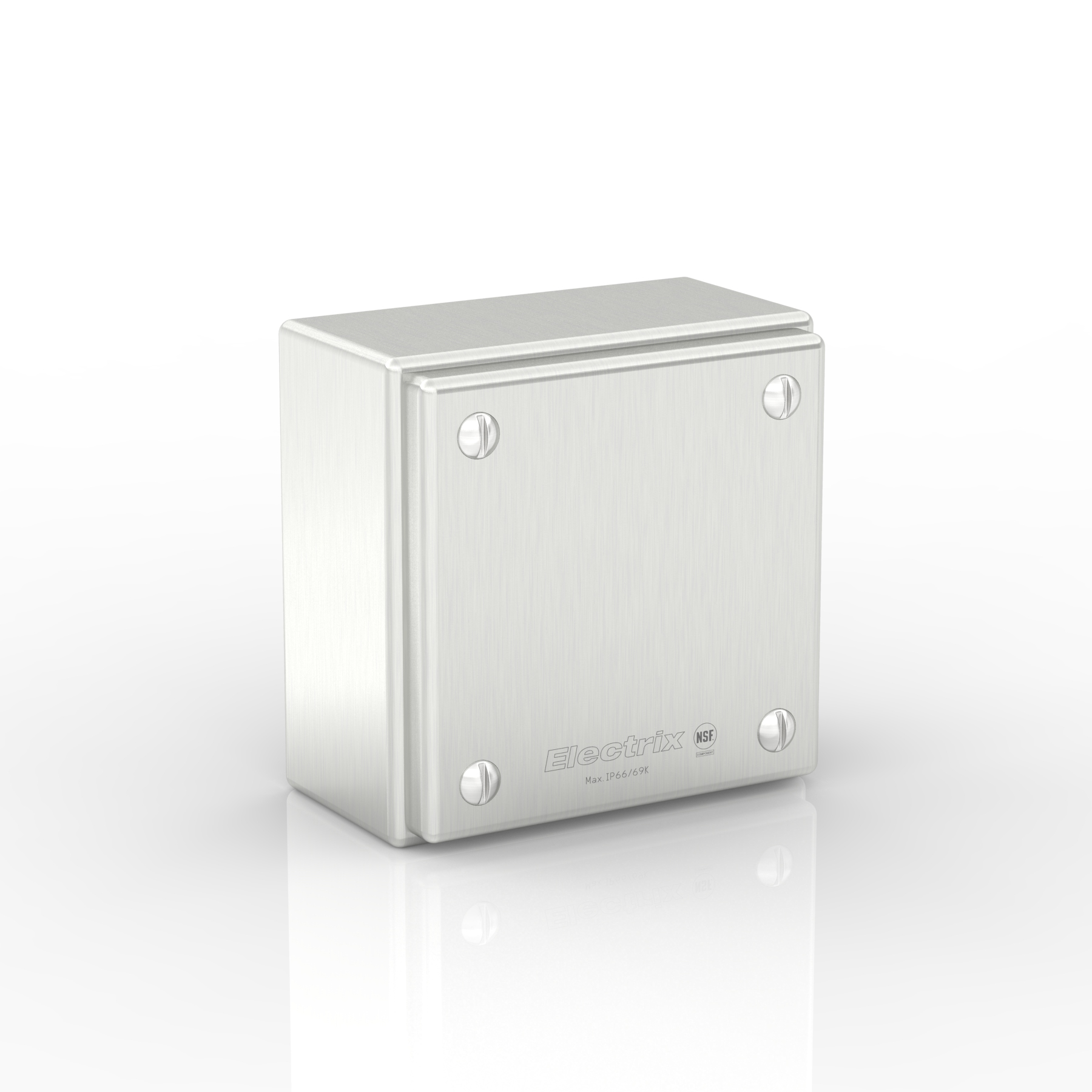 SL-XTCE10-S316 | WASHDOWNPRO IP69K / Type 4X Slimline Junction Box with Removable Stand-Off Mounting Pillars