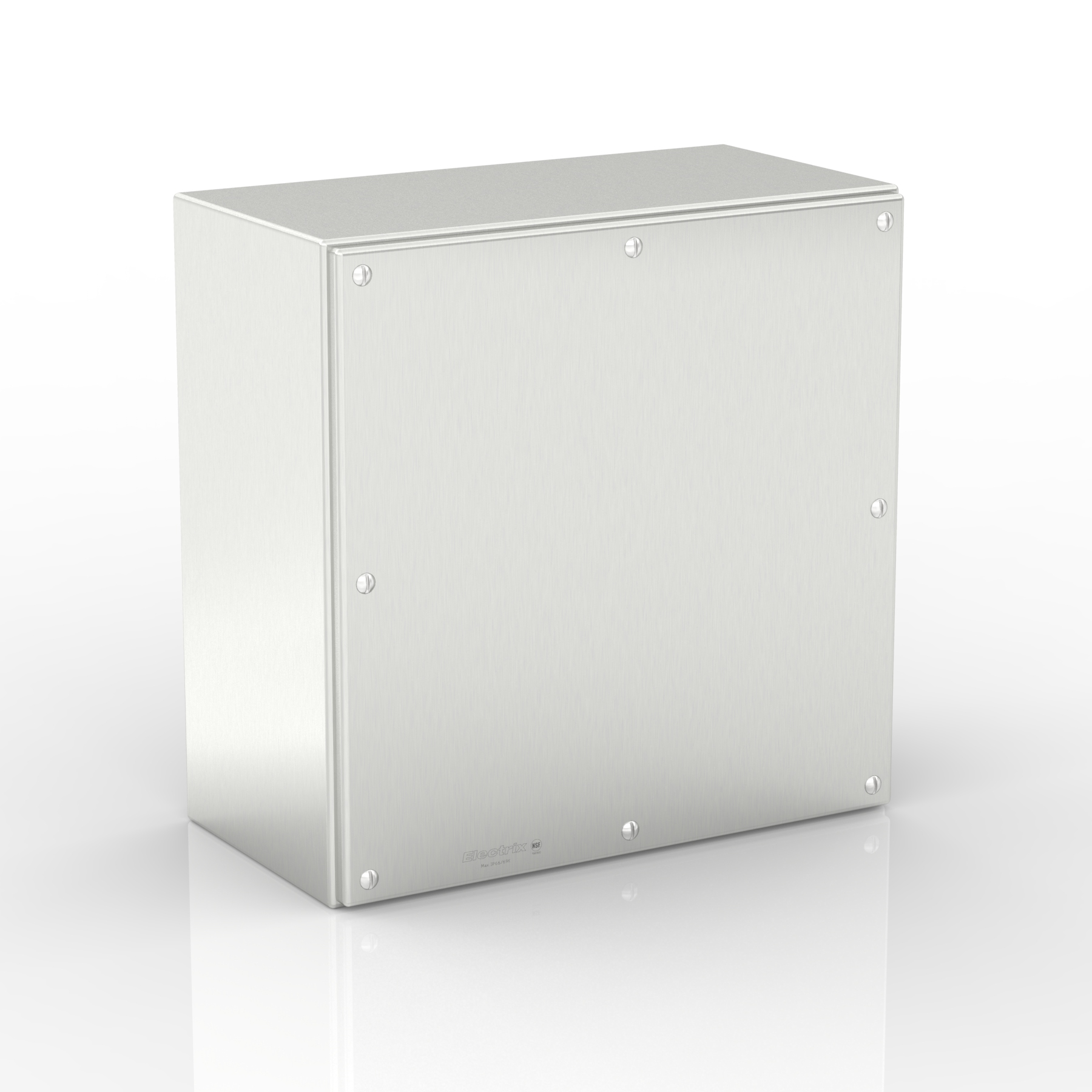 SL-XTCE80-S316 | WASHDOWNPRO IP69K Flat Roof Slimline Terminal & Control Enclosure with Removable Stand-Off Mounting Pillars