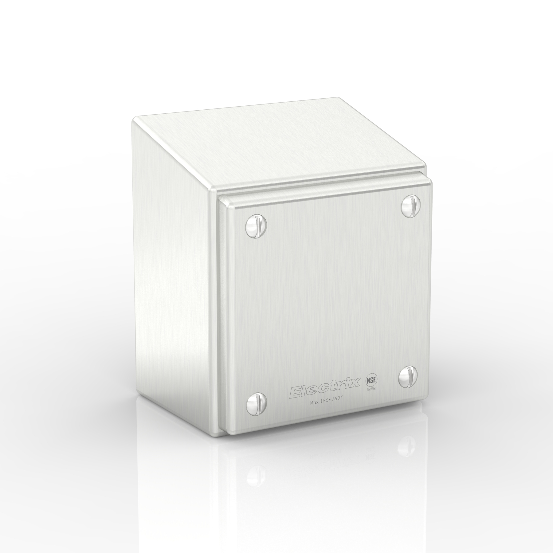 SL15-XTCE10-S316 | 15° Sloped Top Slimline Junction Box with Removable Stand-Off Mounting Pillars