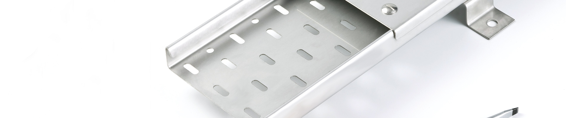 Stainless Steel Medium Duty Return Flange Cable Tray Lengths & Lids