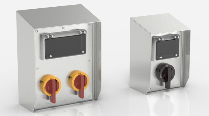 WashdownPro Stainless Steel Rotary Isolator Enclosures with Hinged Viewing Windows