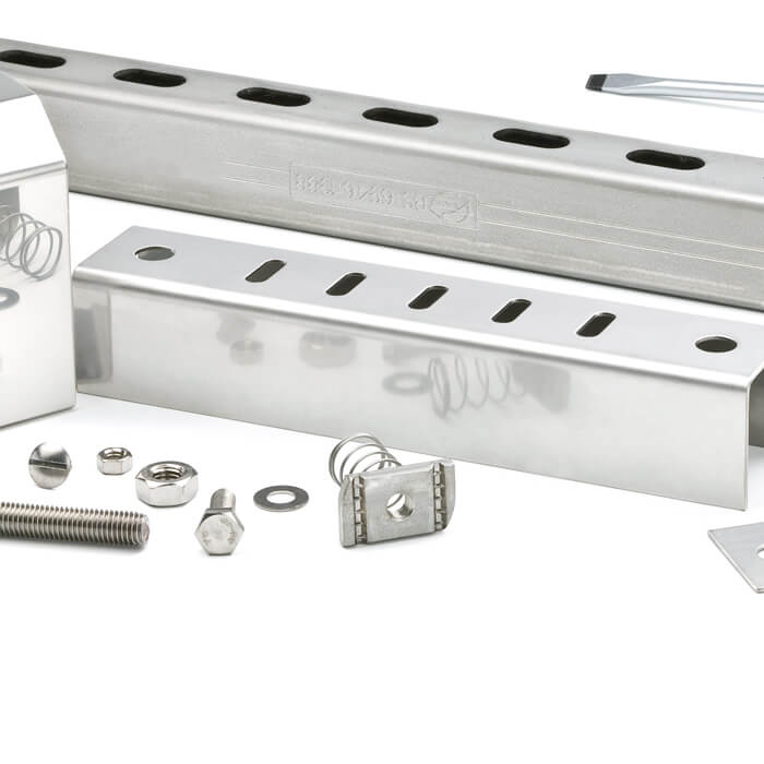 Stainless Steel Brackets, Supports, Strut and Fasteners by Electrix