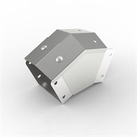 AL-SY 100-100 | 15° Apex Lid Trunking 45° Outside Lid Bend Alternative Image 1