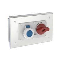 PH-SOC-B S316 | Flush Mounted Pharma Enclosure with Interlocked Switch & Socket Alternative Image 1