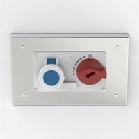 PH-SOC-B S316 | Flush Mounted Pharma Enclosure with Interlocked Switch & Socket Alternative Image 0