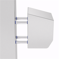 PILLAR-4-M10-75 | WASHDOWNPRO Removable Stand-Off Mounting Pillars 75 mm Alternative Image 1