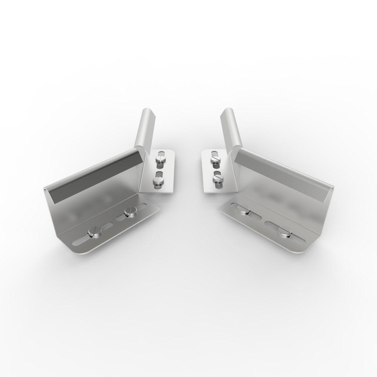IEFIEL 4 Pcs Nappes Multifonctions Poids Lourds Boucles Suspendues en Acier Inoxydable avec Pince en M/étal Pince /À Nappe Pique-Nique Fl/èche 55 x 55 mm