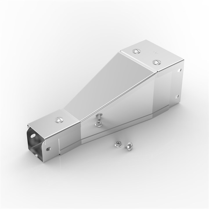 150-100PT50-50 | Flat Lid Trunking Tapered Reducer