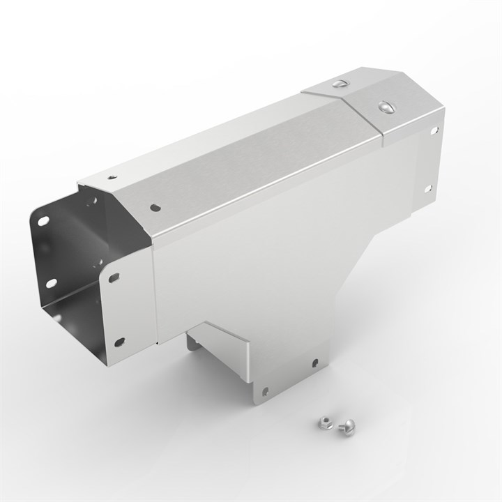 AL-S14 150-150 | 15° Apex Lid Trunking 90° Outside Lid Tee
