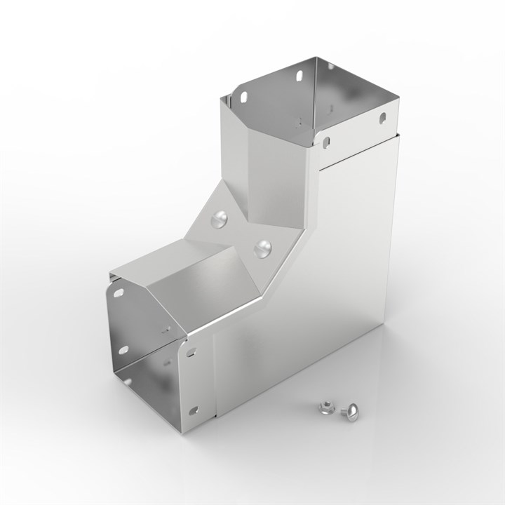 AL-S22 150-100 | 15° Apex Lid Trunking 90° Inside Lid Bend