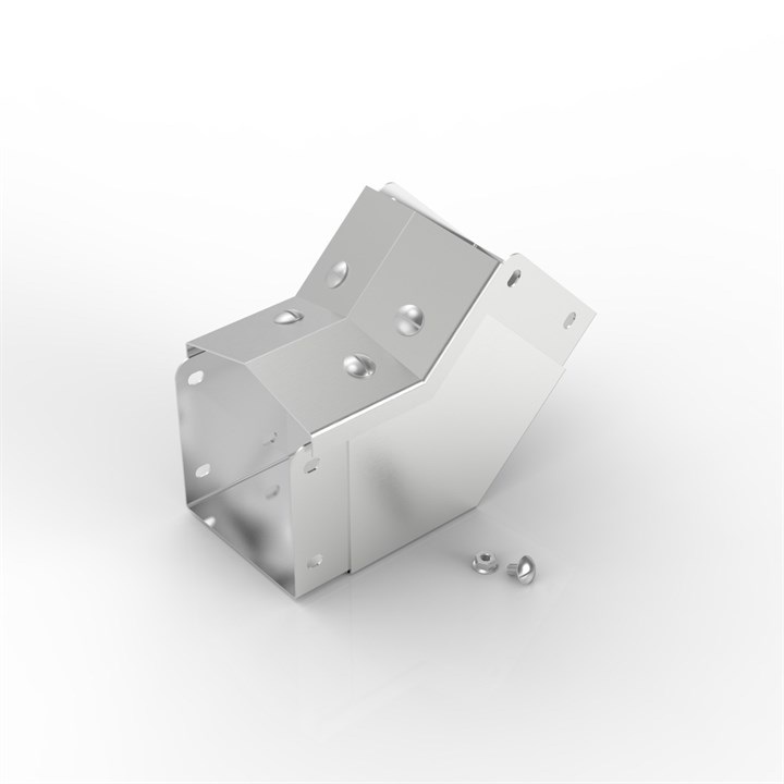 AL-SX 75-75 | 15° Apex Lid Trunking 45° Inside Lid Bend