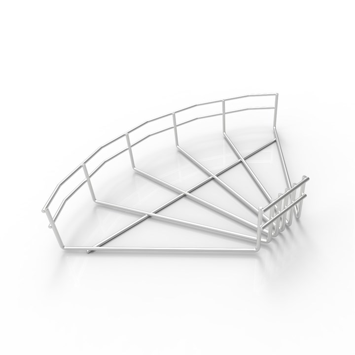 BASK FB90 300 304 | Wire Basket Cable Tray 90° Flat Bend