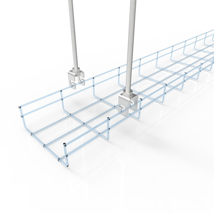 BASK SUS HOOK DOUBLE 304 | Wire Basket Cable Tray Suspension Hook