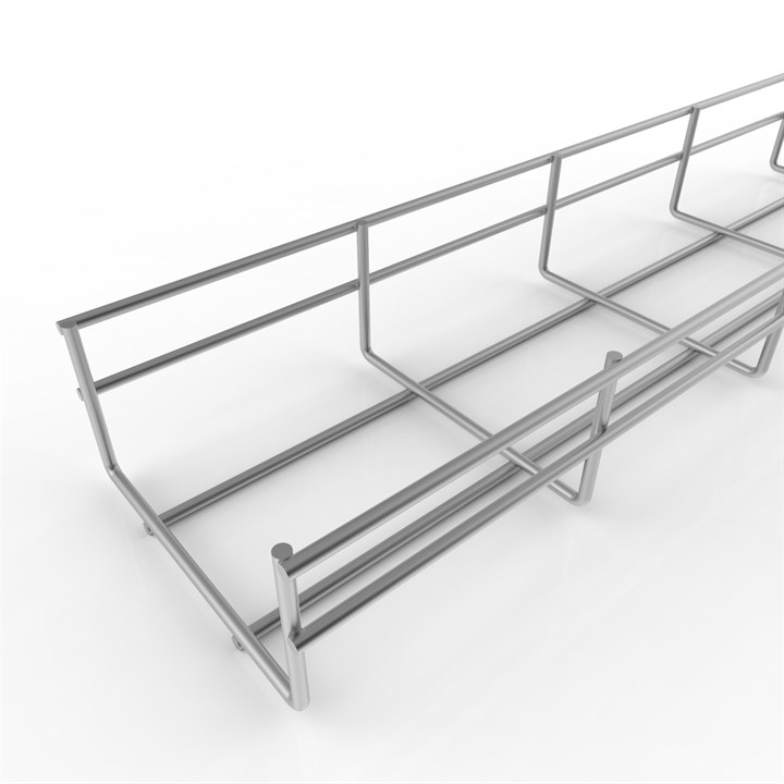 BASK TRAY 100 304 2.5 | Wire Basket Cable Tray Length, 8' 2""