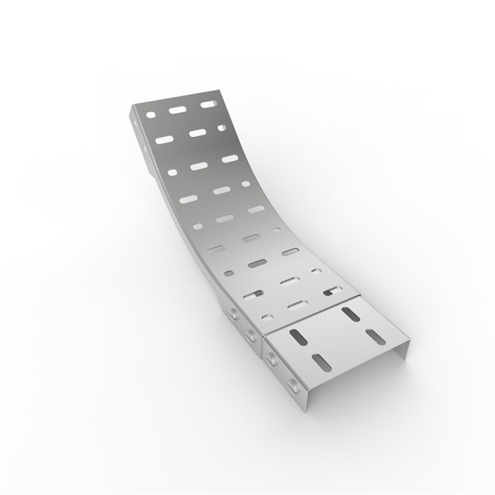 OB45-D 230 | Medium Duty Straight Edge Cable Tray 45° Outside Bend