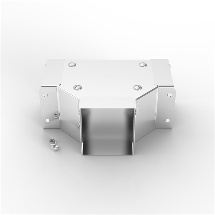 P11 150-100 | Flat Lid Trunking 90° Front Lid Gusset Tee