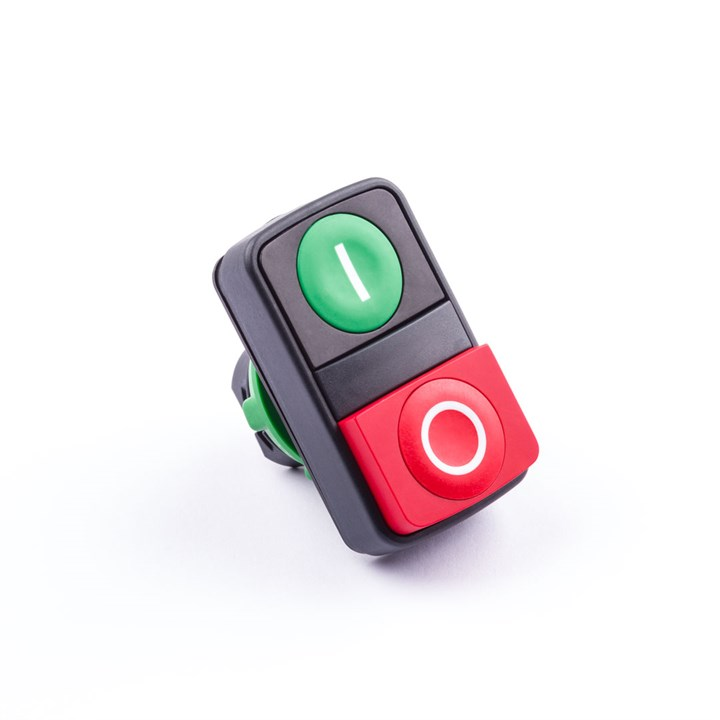 PB-ACC-PB-GREEN/RED-DH-22 | Double Head Push-Button