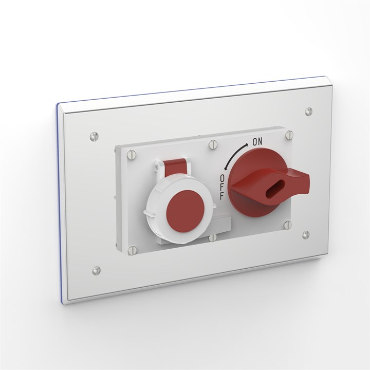 PH-SOC-D P316 | Flush Mounted Pharma Enclosure with Interlocked Switch & Socket