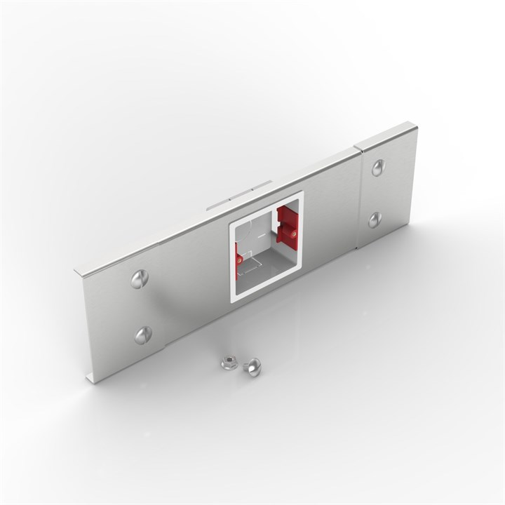 S100 1GANG PLATE | Flat Lid Trunking Socket Outlet Plate
