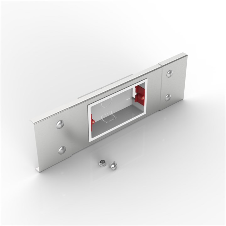 S100 2GANG PLATE | Flat Lid Trunking Socket Outlet Plate
