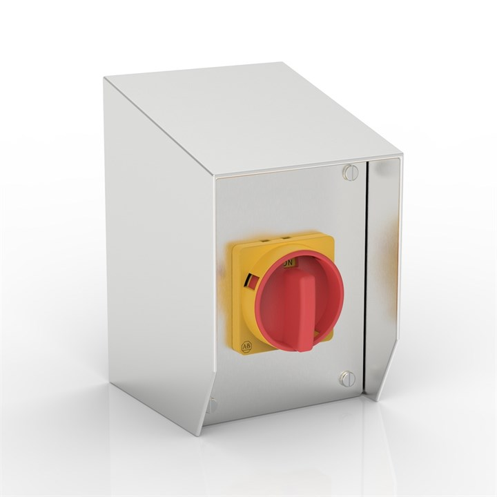 SR-AB32-S | 15° Sloping Roof Rotary Isolator Enclosure with Allen-Bradley switch