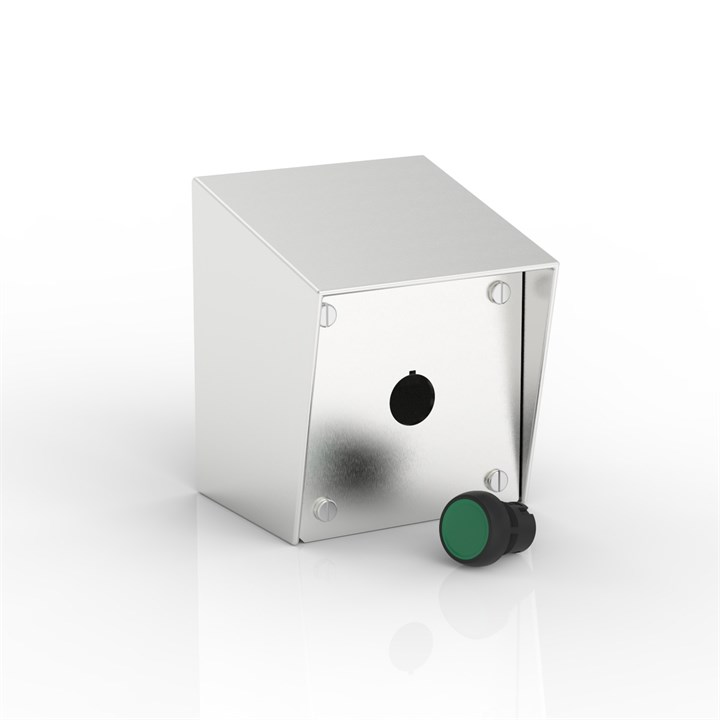 SR-PB1-S | 15° Sloping Roof Push-Button Enclosure