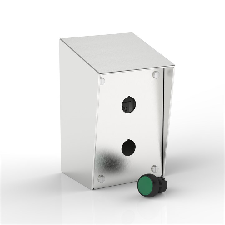 SR-PB2-S | 15° Sloping Roof Push-Button Enclosure