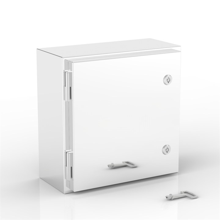 THSS-X-P | Shallow Hinged Door Cabinet with 1 x Plain Door