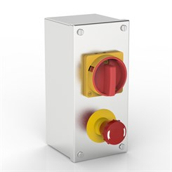 AB-ISO 32-ES-SR | Rotary Isolator & Emergency Stop Enclosure with Allen-Bradley switches