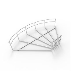 BASK FB90 50 304 | Wire Basket Cable Tray 90° Flat Bend