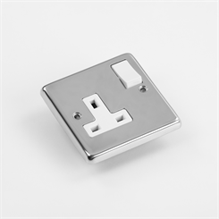 ELEC 1G-P SOCK | 13A Switched Socket, 1 Gang