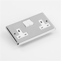 ELEC 2G-P SOCK | 13A Switched Socket, 2 Gang