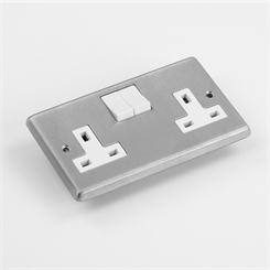 ELEC 2G-S SOCK | 13A Switched Socket, 2 Gang