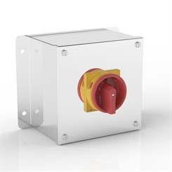 ISO 32-PF | Rotary Isolator Enclosure with Flat Mounting Bracket & Eaton (Moeller Electric) switch