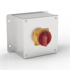 ISO 32-SF | Rotary Isolator Enclosure with Flat Mounting Bracket & Eaton (Moeller Electric) switch
