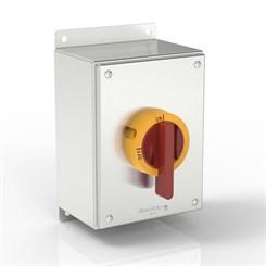 SL-KT60X1-S316 BK | Slimline Rotary Motor Disconnect Switch Enclosure with IP69K Handle and Flat Mounting Bracket