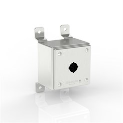SL-PB1-S316-22.5 BKZ | Slimline Push-Button Enclosure with Stand-Off Mounting Bracket