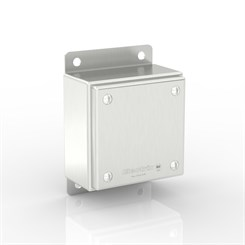 SL-TCE10-S316 BK | WASHDOWNPRO IP69K / Type 4X Slimline Junction Box with Flat Mounting Bracket