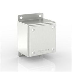 SL-TCE20-S316 BK | WASHDOWNPRO IP69K / Type 4X Slimline Junction Box with Flat Mounting Bracket