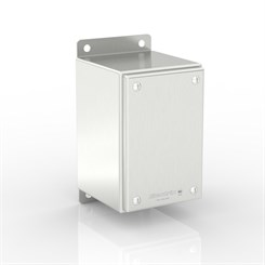 SL-TCE30-S316 BK | WASHDOWNPRO IP69K / Type 4X Slimline Junction Box with Flat Mounting Bracket