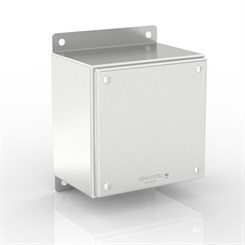 SL-TCE40-S316 BK | WASHDOWNPRO IP69K / Type 4X Slimline Junction Box with Flat Mounting Bracket