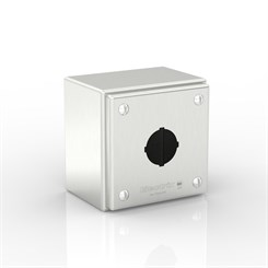 SL-XPB1-S316-30.5 | Slimline Push-Button Enclosure with Removable Stand-Off Mounting Pillars