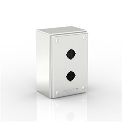 SL-XPB2-S316-22.5 | Slimline Push-Button Enclosure with removable Stand-Off Mounting Pillars