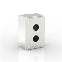 SL-XPB2-S316-30.5 | Slimline Push-Button Enclosure with removable Stand-Off Mounting Pillars