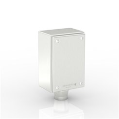 "SL-XTCE-R-Q1/0-S316 | Slimline Terminal Box (Q - Terminal) with 1 x 1"" Ø Hole and Removable Stand-Off Mounting Pillars"