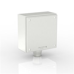 "SL-XTCE-SQ-Q1/0-S316 | Slimline Terminal Box (Q - Terminal) with 1 x 1"" Ø Hole and Removable Stand-Off Mounting Pillars"