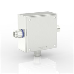 "SL-XTCE-SQ-T3/4-S316 | Slimline Terminal Box (T - Tee) with 3 x 3/4"" Ø Holes and Removable Stand-Off Mounting Pillars"