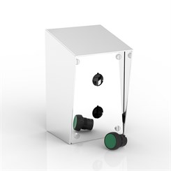 SR-PB2-P | 15° Sloping Roof Push-Button Enclosure